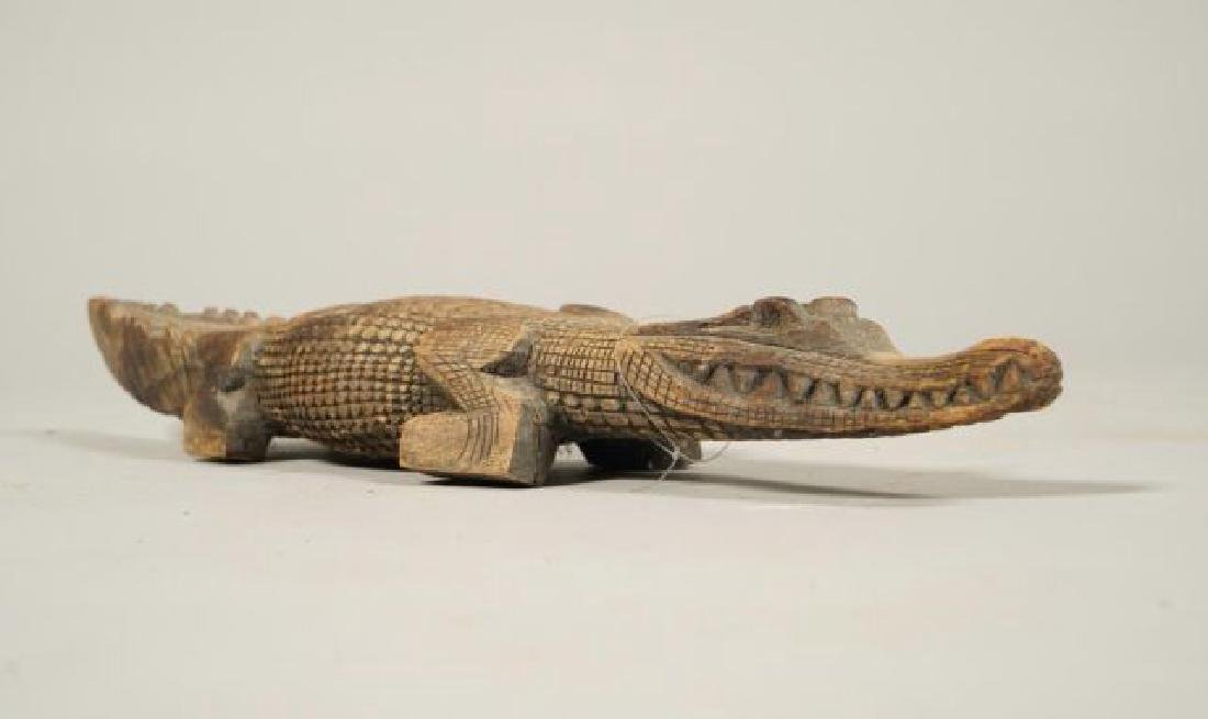 AFRICAN CARVED FISH, BIRD AND CROCODILE - 10