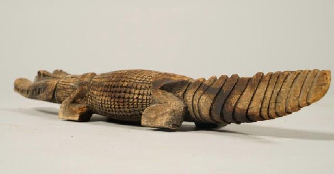 AFRICAN CARVED FISH, BIRD AND CROCODILE - 2