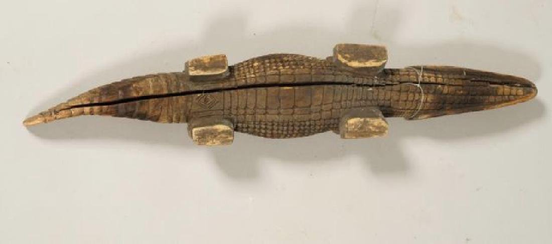 AFRICAN CARVED FISH, BIRD AND CROCODILE - 3