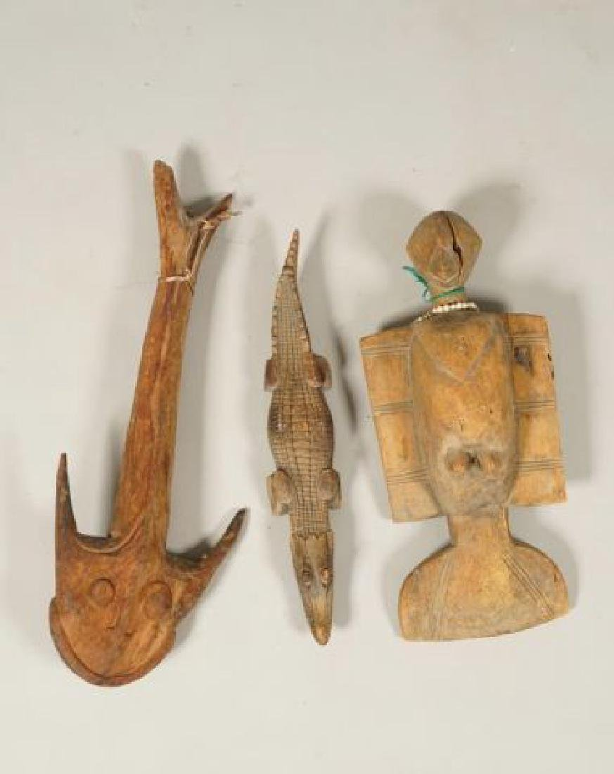 AFRICAN CARVED FISH, BIRD AND CROCODILE - 4