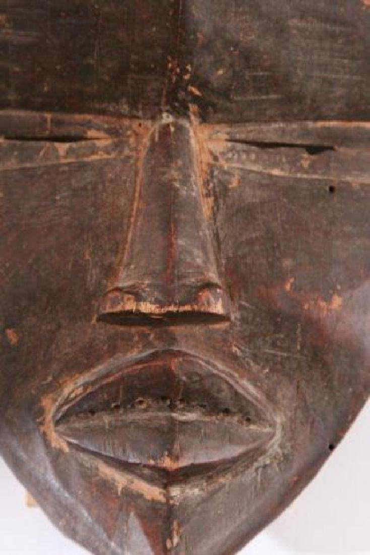 ANTIQUE AFRICAN MASK OF THE DAN / LIBERIA - 4