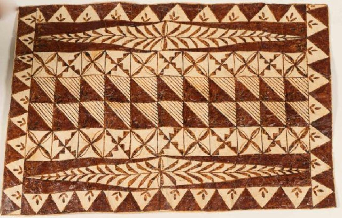(20th c) AFRICAN GEOMETRIC PAINTING ON HIDE