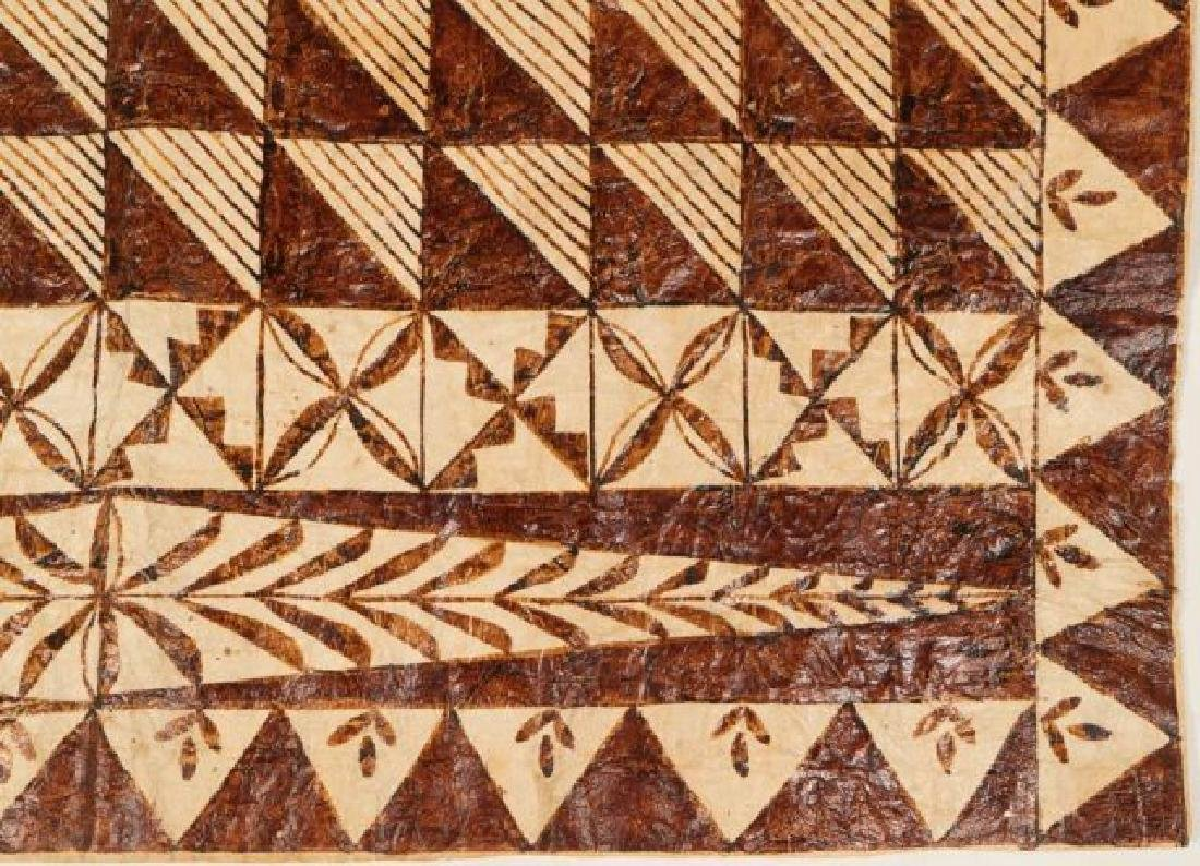 (20th c) AFRICAN GEOMETRIC PAINTING ON HIDE - 2