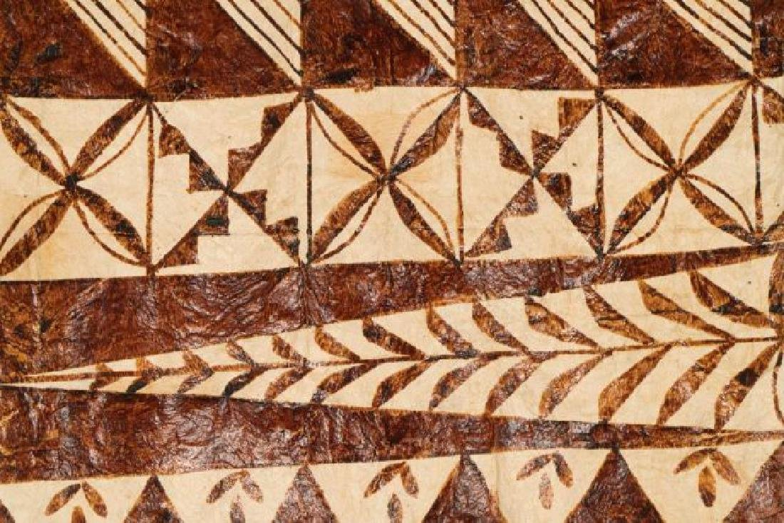 (20th c) AFRICAN GEOMETRIC PAINTING ON HIDE - 4