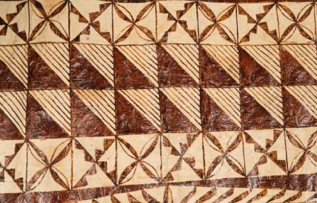 (20th c) AFRICAN GEOMETRIC PAINTING ON HIDE - 5