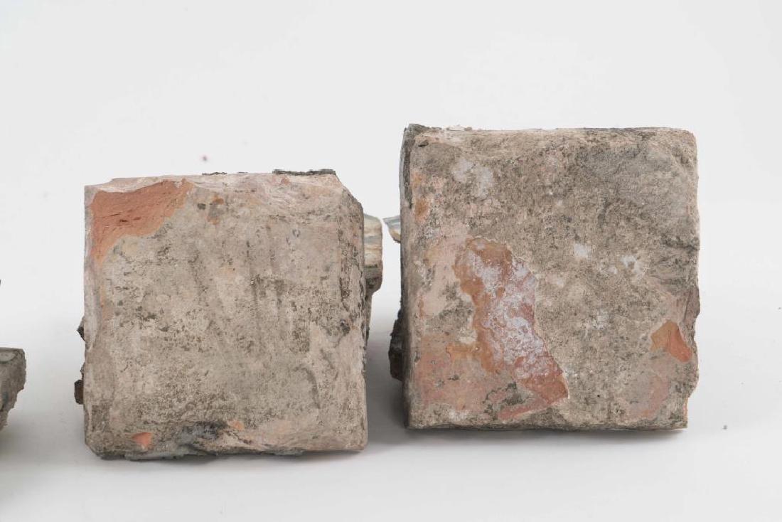 (16th c) SPANISH TILES w MOORISH POLYCHROME GLAZE - 3