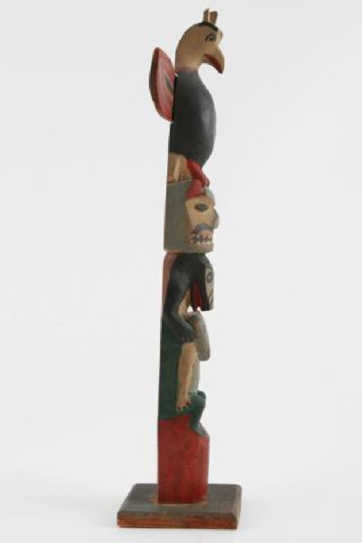 (Early 20th c) PACIFIC NORTHWEST INDIAN TOTEM POLE - 2