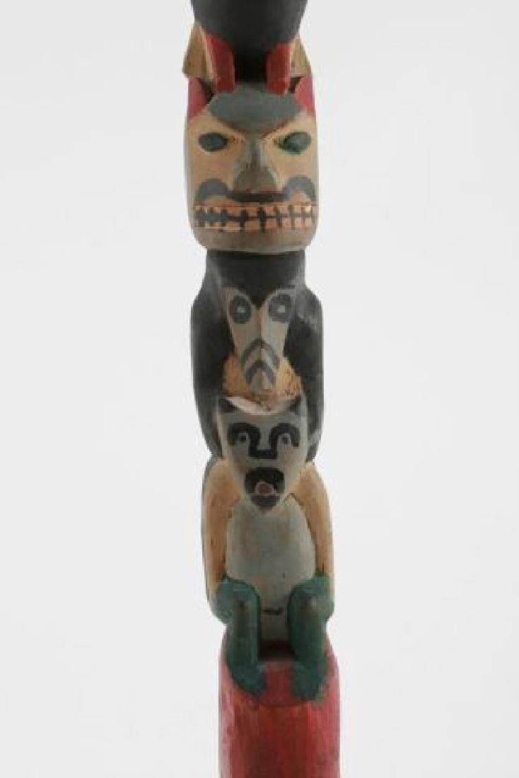 (Early 20th c) PACIFIC NORTHWEST INDIAN TOTEM POLE - 5