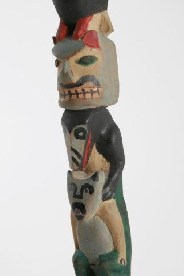 (Early 20th c) PACIFIC NORTHWEST INDIAN TOTEM POLE - 6