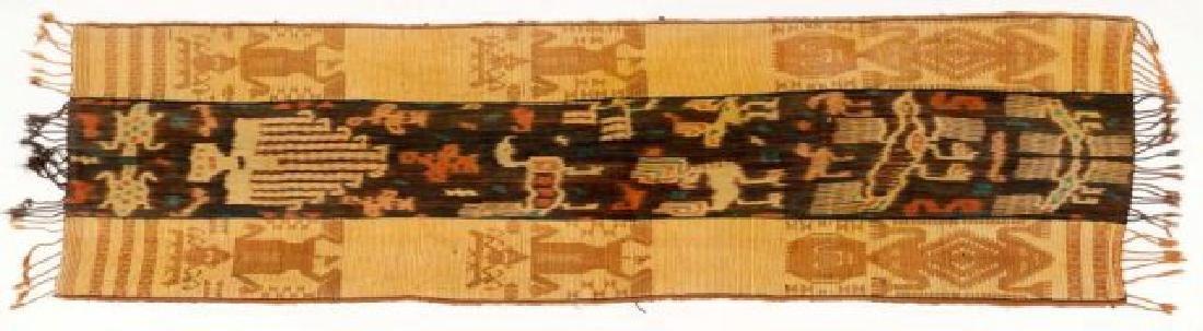 POLYNESIAN SHELL EMBEDDED COTTON WOVEN RUNNER
