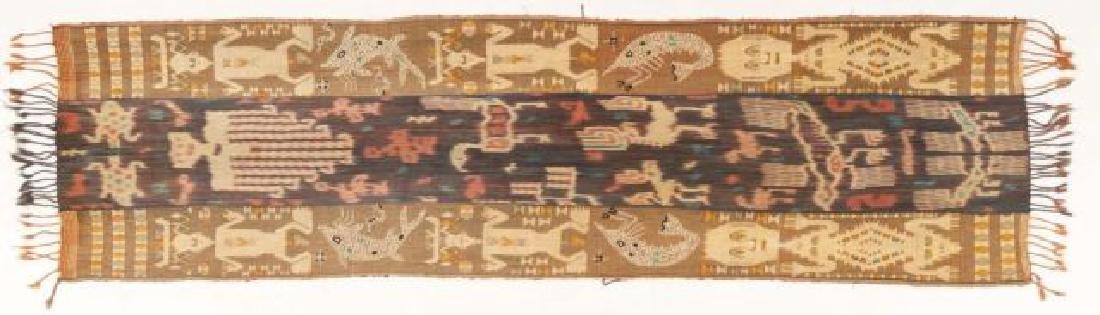 POLYNESIAN SHELL EMBEDDED COTTON WOVEN RUNNER - 4