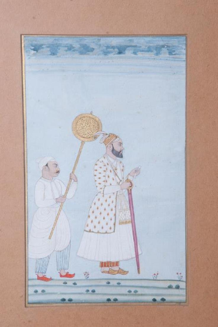 (3) FINE INDIAN SCHOOL PAINTINGS OF MUGHALS - 2