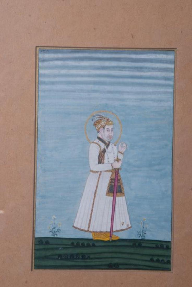 (3) FINE INDIAN SCHOOL PAINTINGS OF MUGHALS - 3