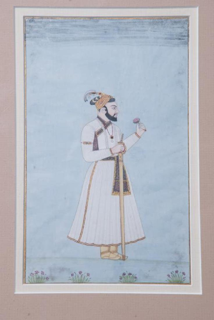 (3) FINE INDIAN SCHOOL PAINTINGS OF MUGHALS - 4