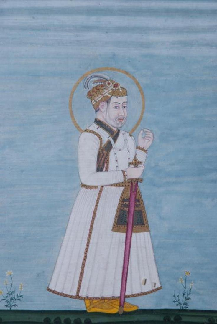 (3) FINE INDIAN SCHOOL PAINTINGS OF MUGHALS - 5