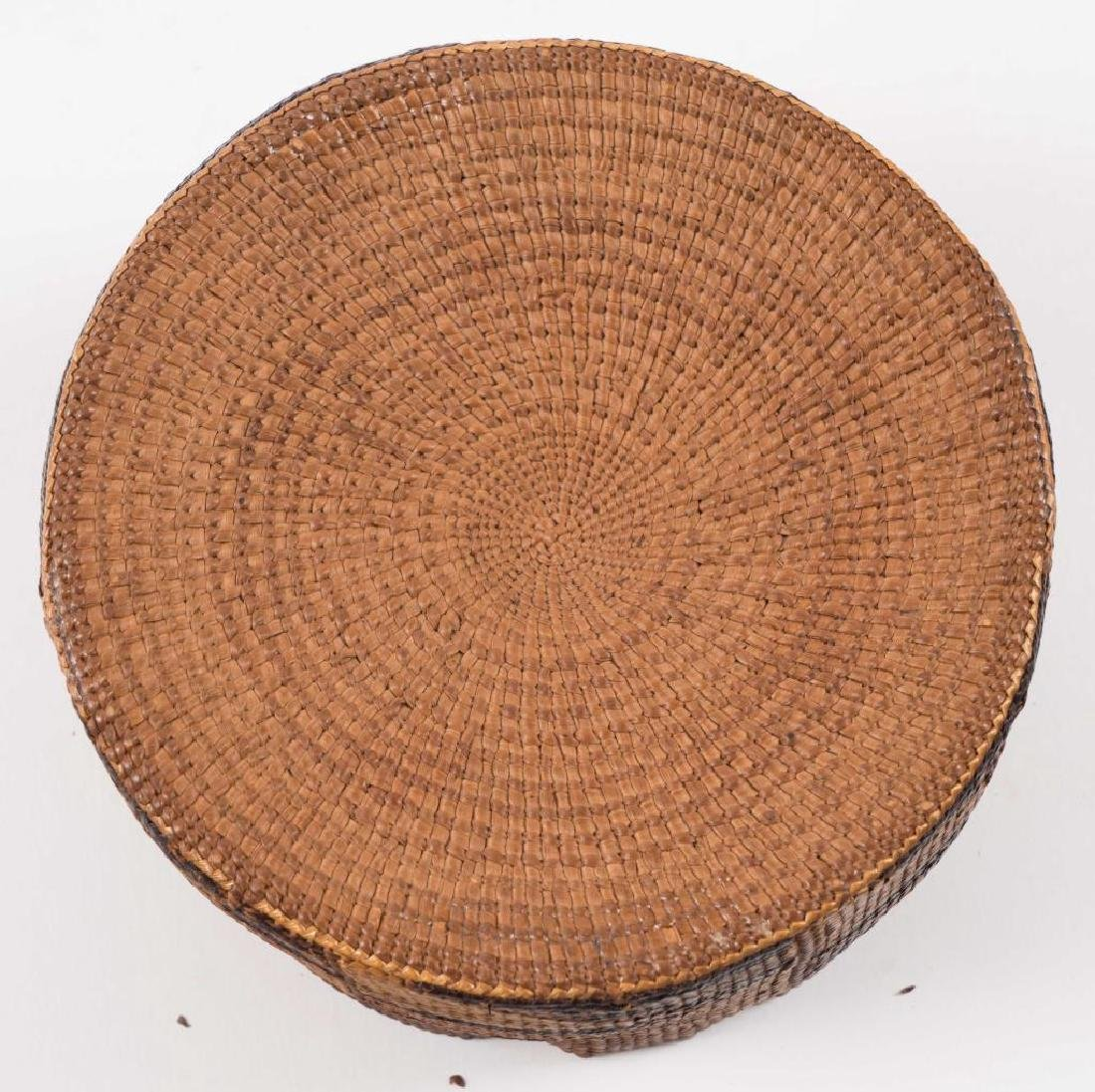 (2) FINELY WOVEN NATIVE AMERICAN COVERED BASKETS - 2
