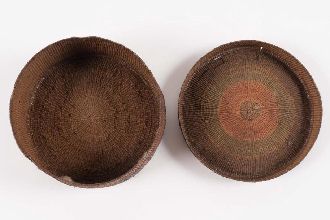 (2) FINELY WOVEN NATIVE AMERICAN COVERED BASKETS - 6