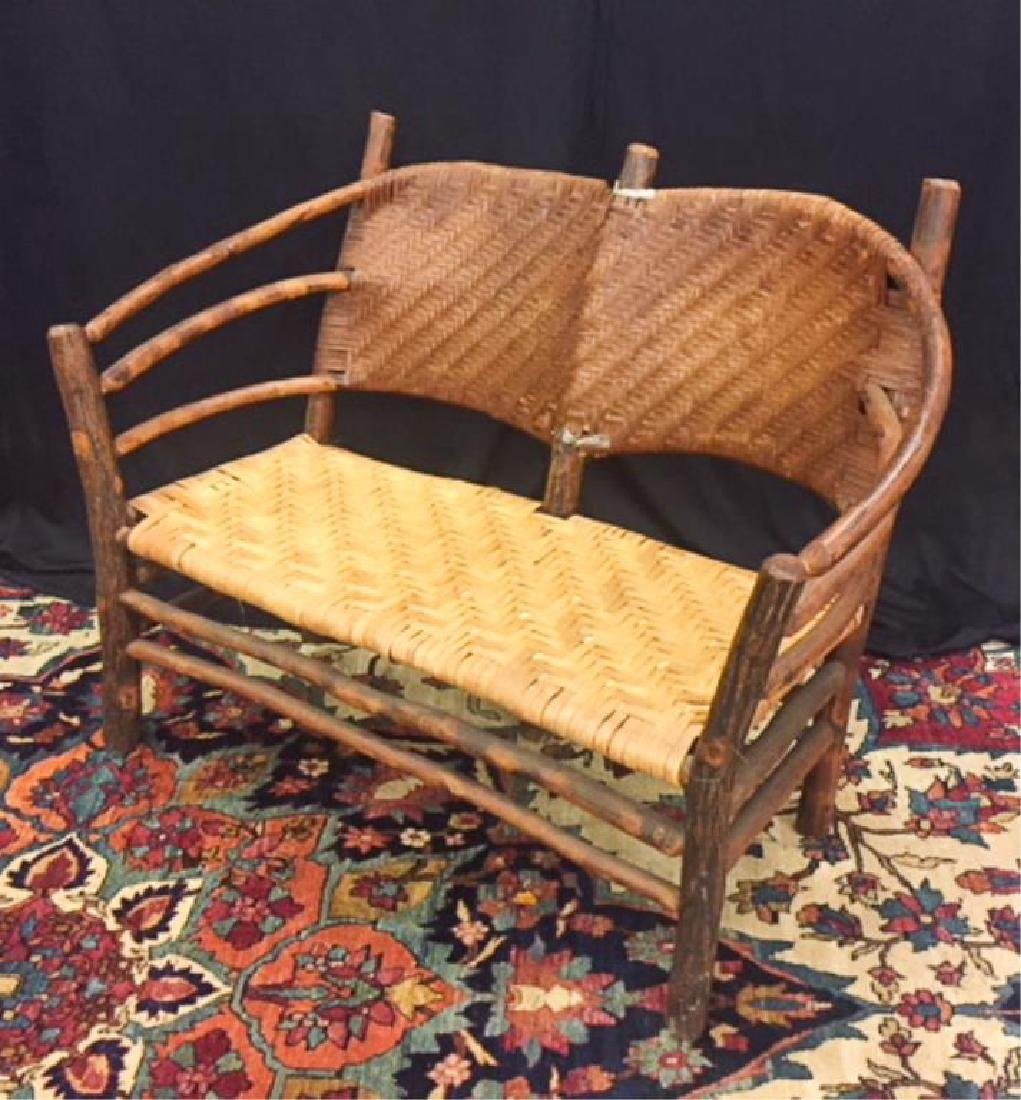 "ADIRONDACK RUSTIC SETTEE POSSIBLY ""OLD HICKORY"""