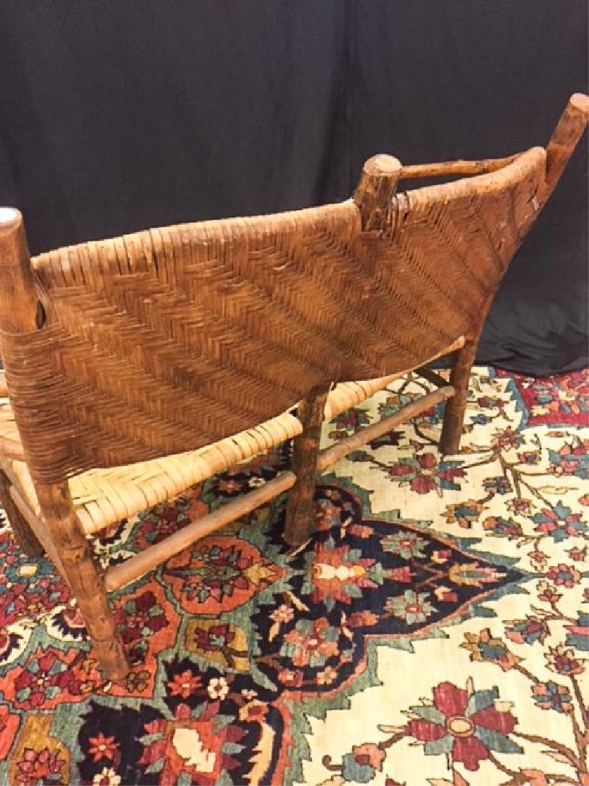 "ADIRONDACK RUSTIC SETTEE POSSIBLY ""OLD HICKORY"" - 4"