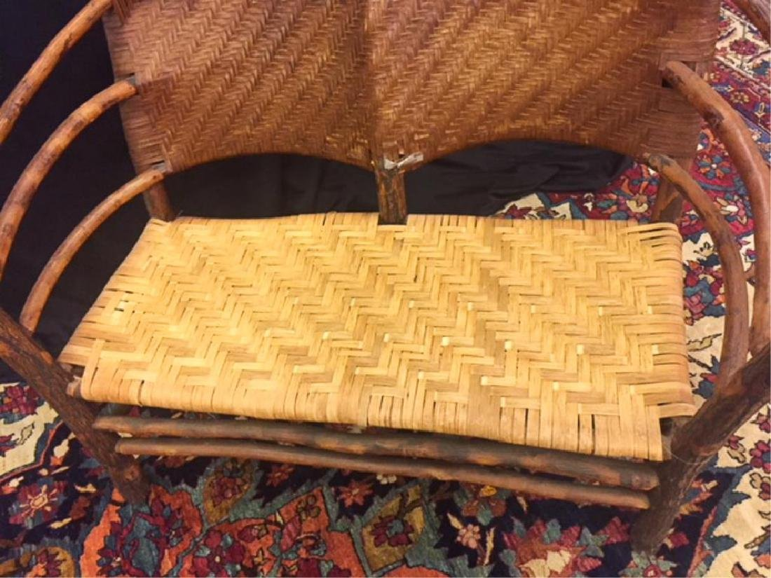 "ADIRONDACK RUSTIC SETTEE POSSIBLY ""OLD HICKORY"" - 6"