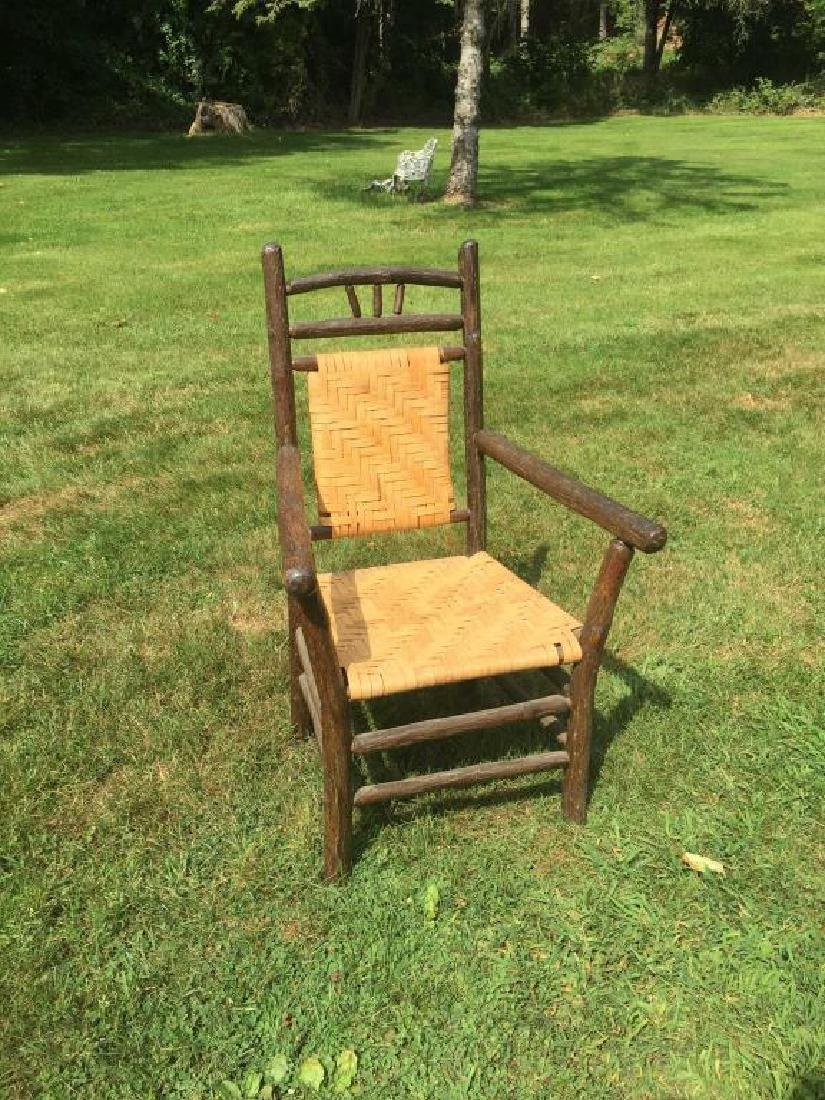 """""""OLD HICKORY """" ADIRONDACK RUSTIC ARM CHAIR"""