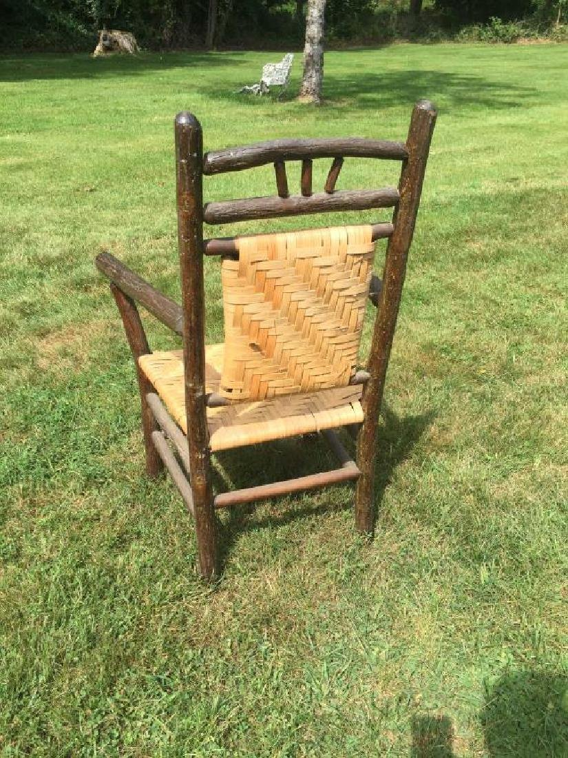 """""""OLD HICKORY """" ADIRONDACK RUSTIC ARM CHAIR - 3"""