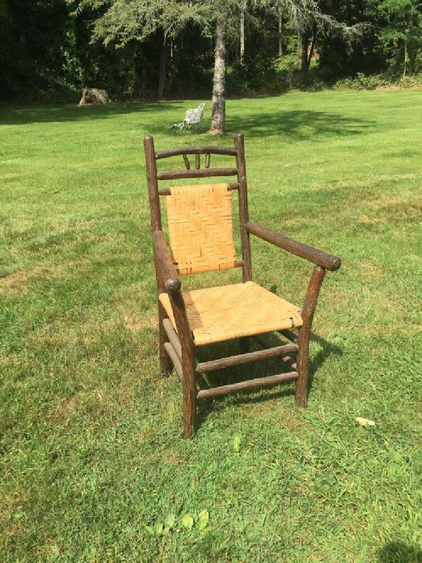 """""""OLD HICKORY """" ADIRONDACK RUSTIC ARM CHAIR - 4"""