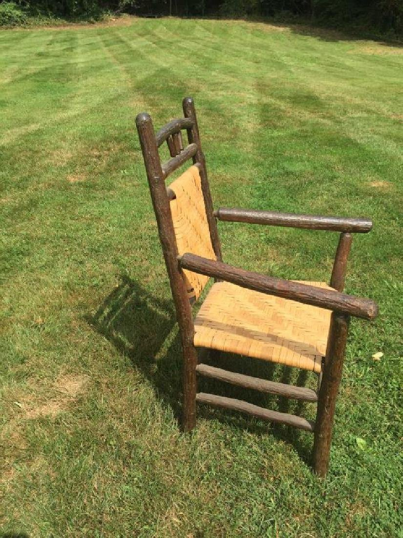 """""""OLD HICKORY """" ADIRONDACK RUSTIC ARM CHAIR - 5"""
