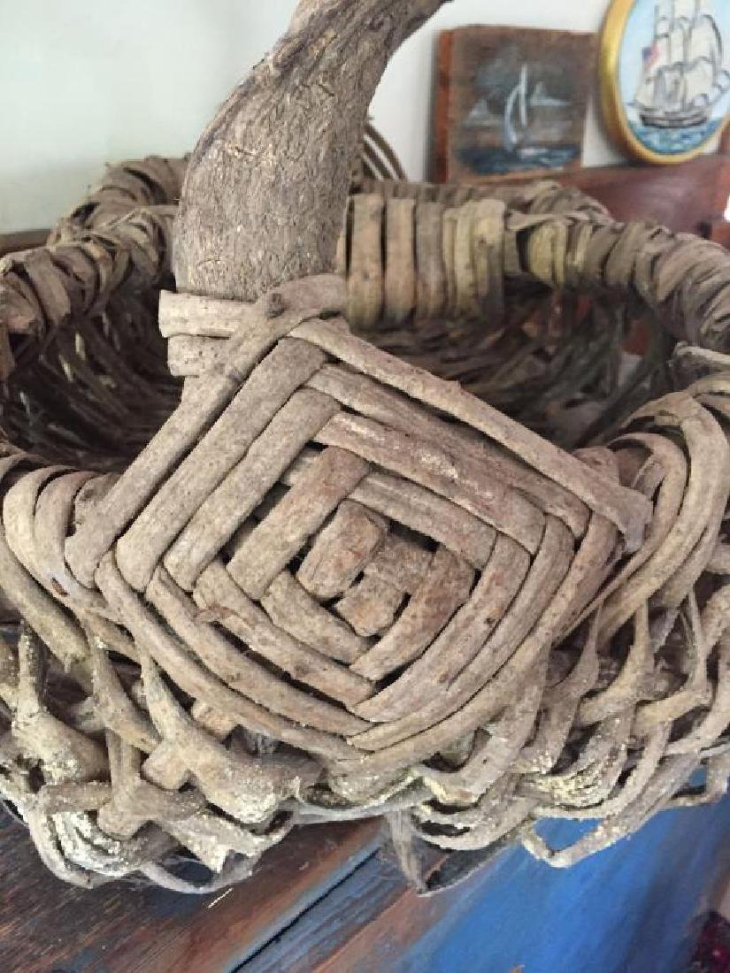 TWO RUSTIC ADIRONDACK BASKETS - 5