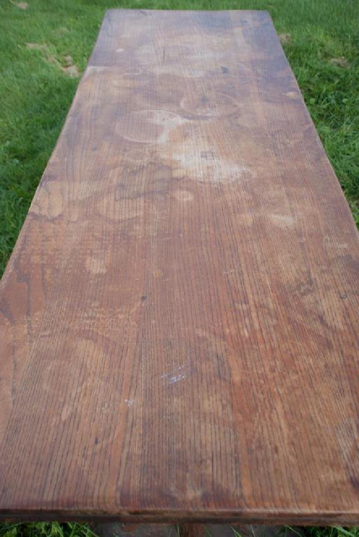"""OLD HICKORY"" ADIRONDACK RUSTIC DINING TABLE AND CHAIRS - 6"