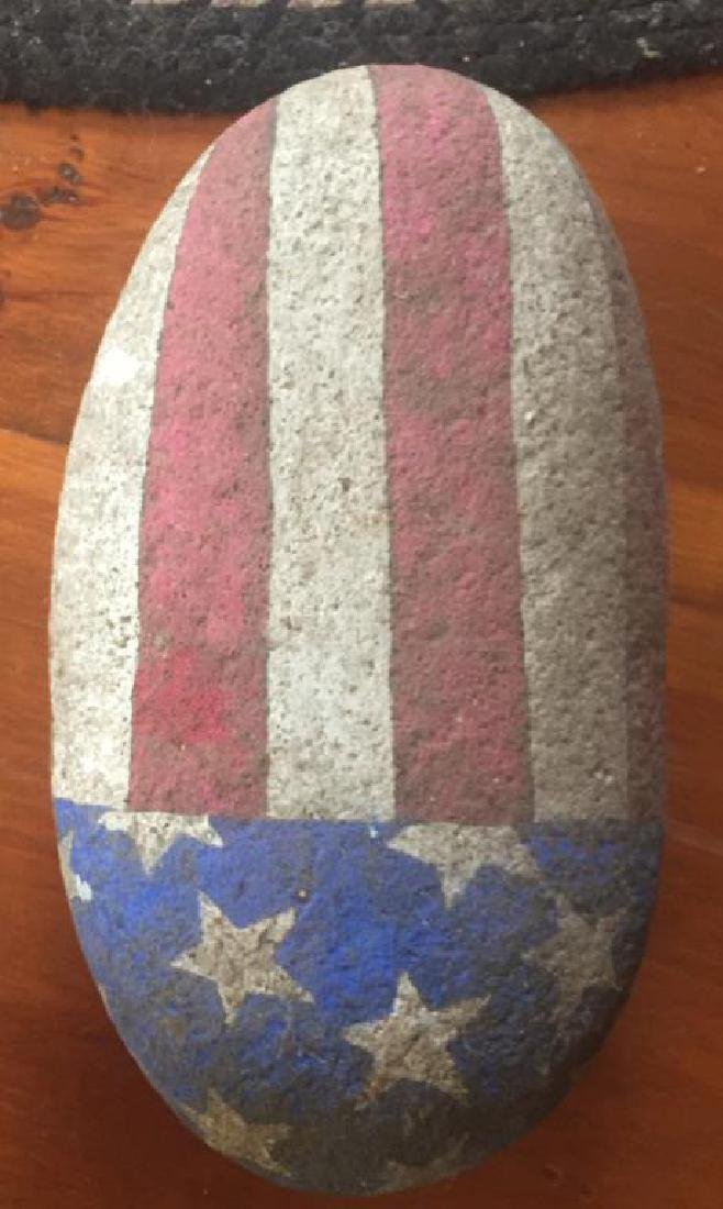 TWO PAINTED FLAG ROCKS - 3