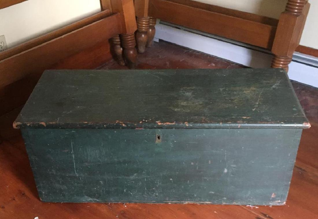 PAINTED SIX BOARD SEA CHEST - 4