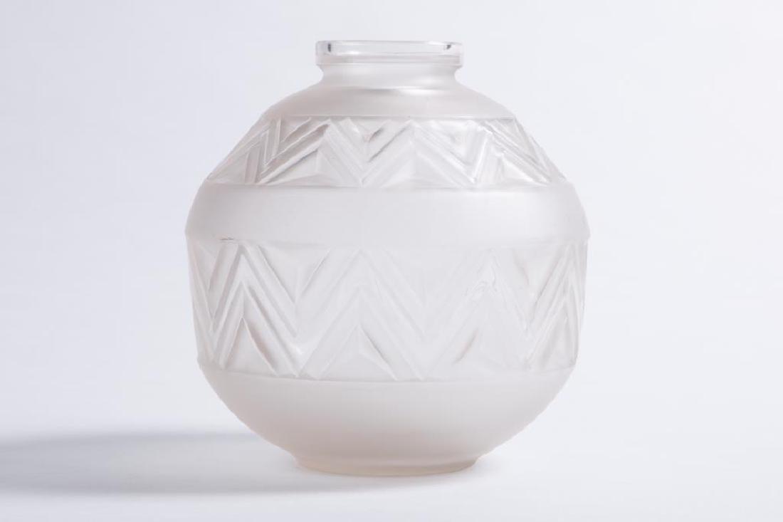 EDMOND ETLING TATEOS FRENCH ART GLASS VASE