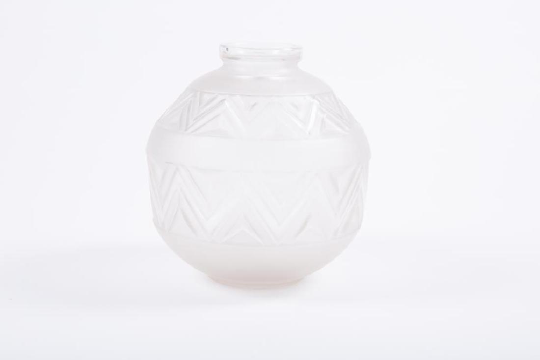 EDMOND ETLING TATEOS FRENCH ART GLASS VASE - 2