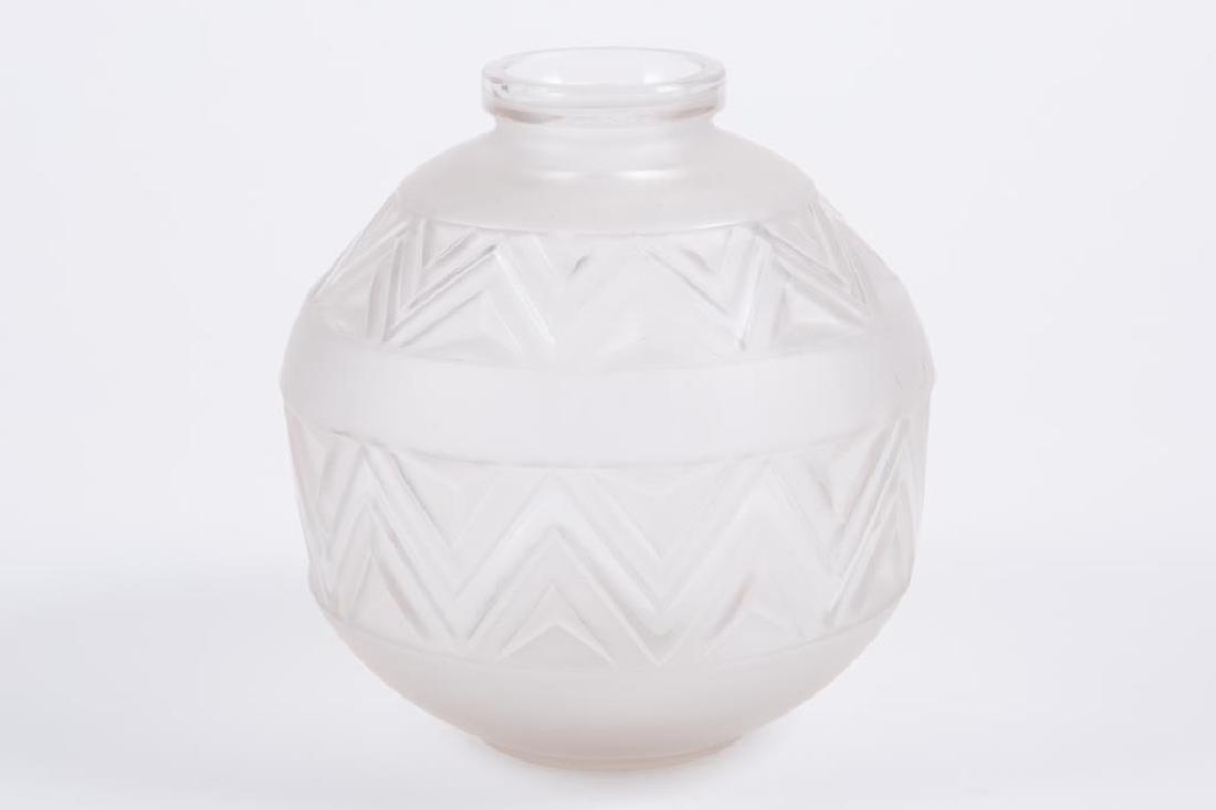 EDMOND ETLING TATEOS FRENCH ART GLASS VASE - 5