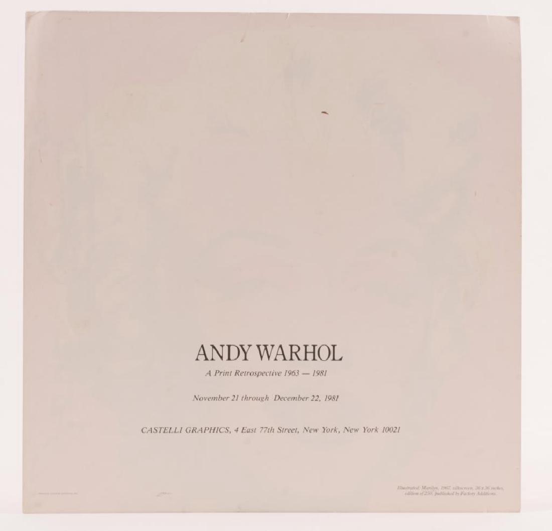 ANDY WARHOL (1928-1987) MARILYN MONROE INVITATION - 2