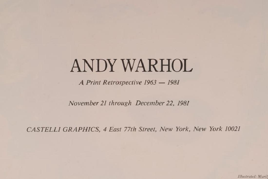 ANDY WARHOL (1928-1987) MARILYN MONROE INVITATION - 3