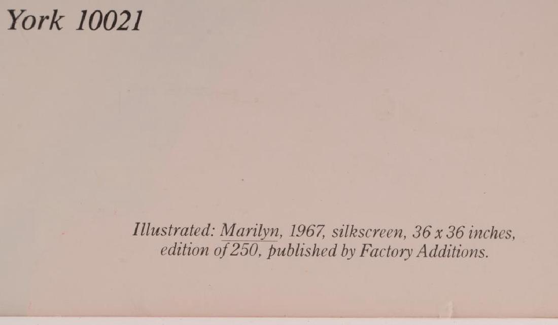 ANDY WARHOL (1928-1987) MARILYN MONROE INVITATION - 4