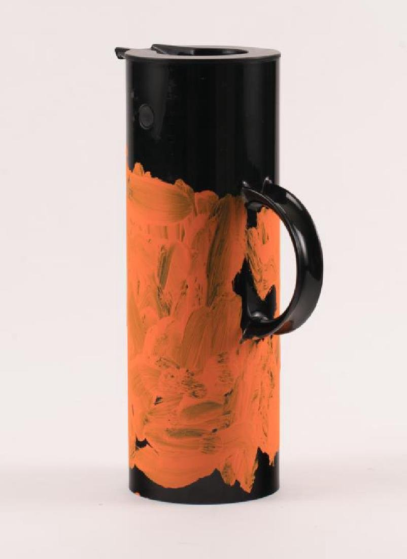 JEAN-MICHEL BASQUIAT (1960-1988) PAINTED THERMOS - 2