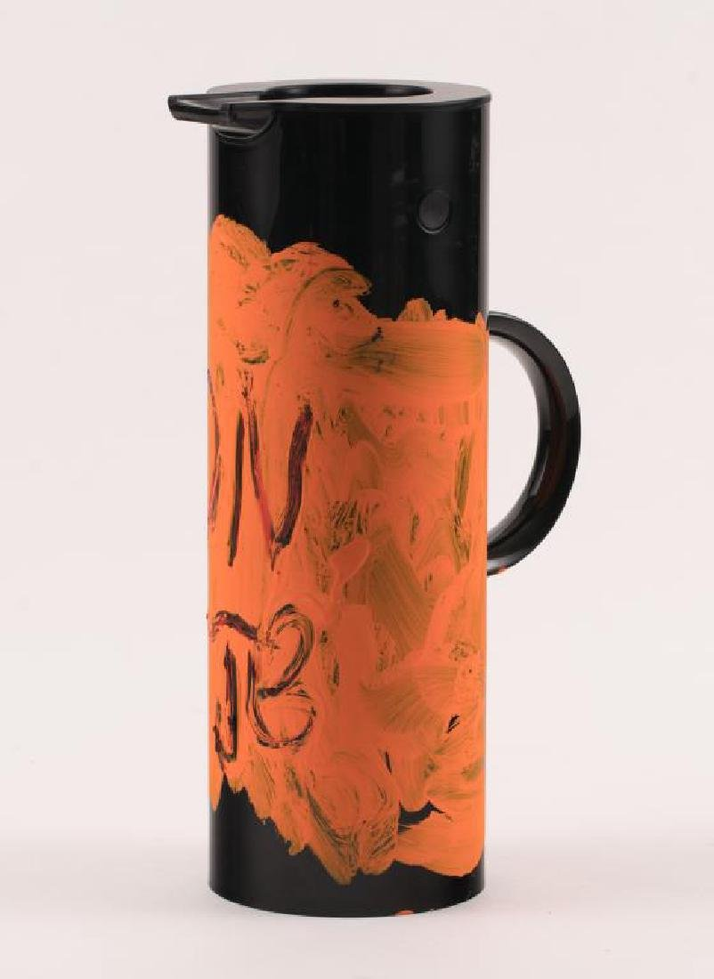JEAN-MICHEL BASQUIAT (1960-1988) PAINTED THERMOS - 3