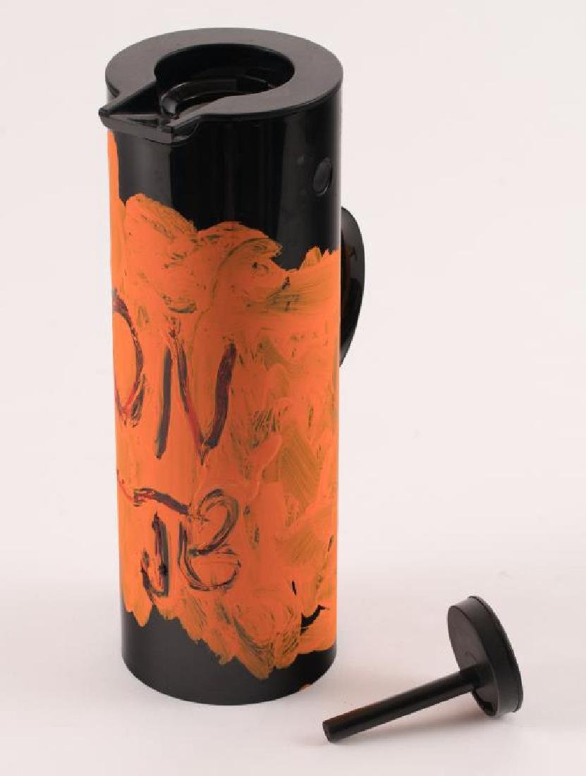 JEAN-MICHEL BASQUIAT (1960-1988) PAINTED THERMOS - 5