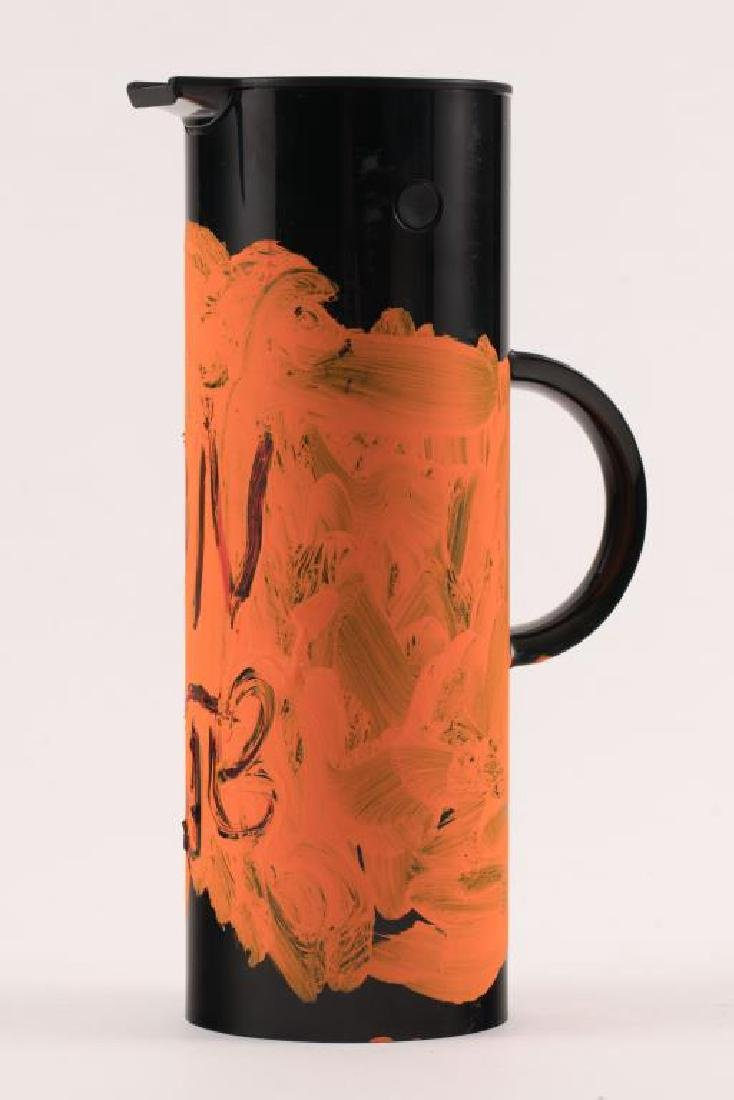JEAN-MICHEL BASQUIAT (1960-1988) PAINTED THERMOS - 8