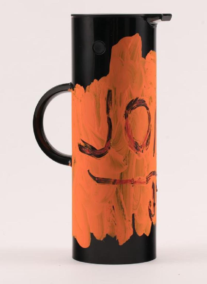JEAN-MICHEL BASQUIAT (1960-1988) PAINTED THERMOS - 9