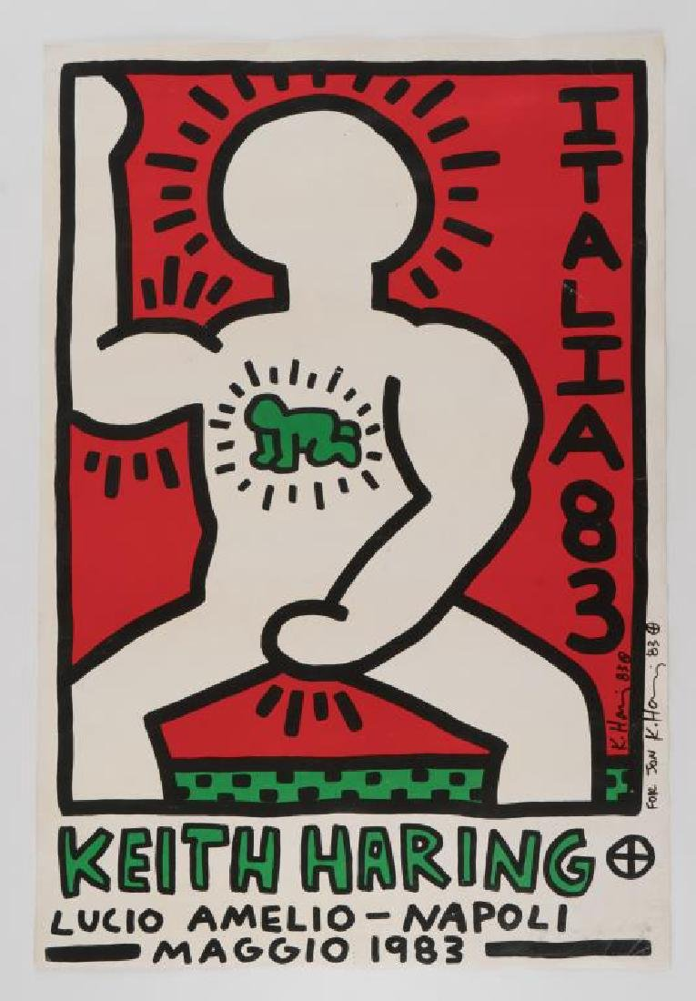 KEITH HARING (1958-1990) artist signed