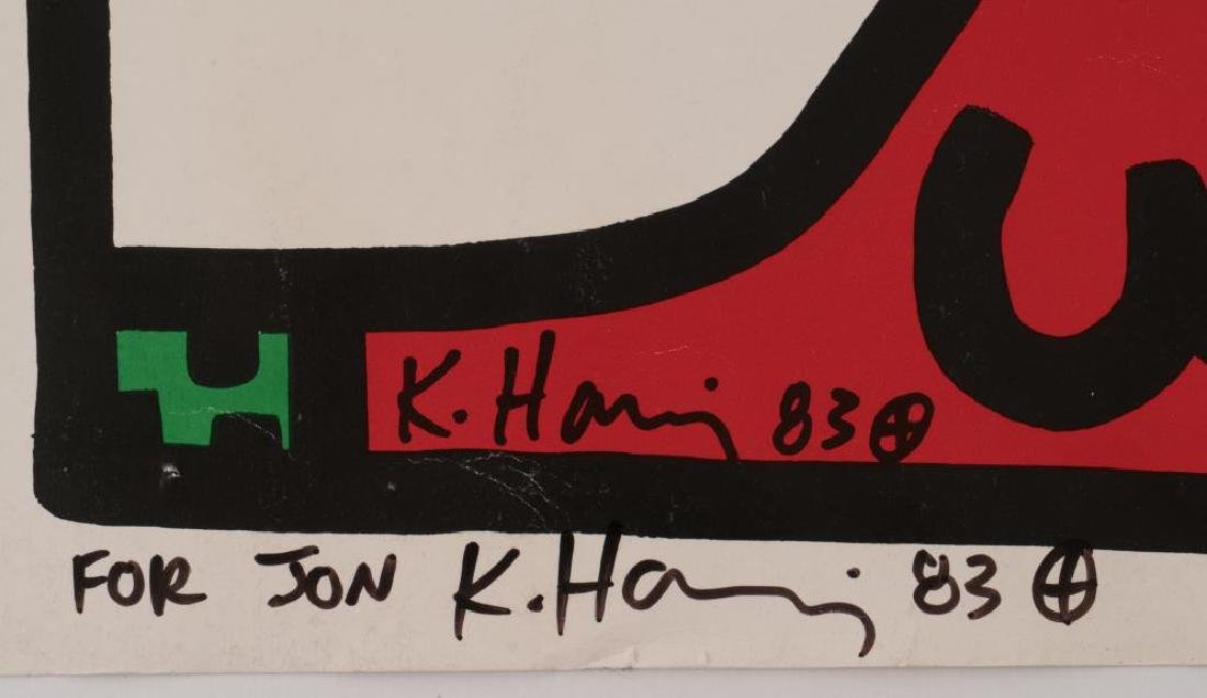 KEITH HARING (1958-1990) artist signed - 2