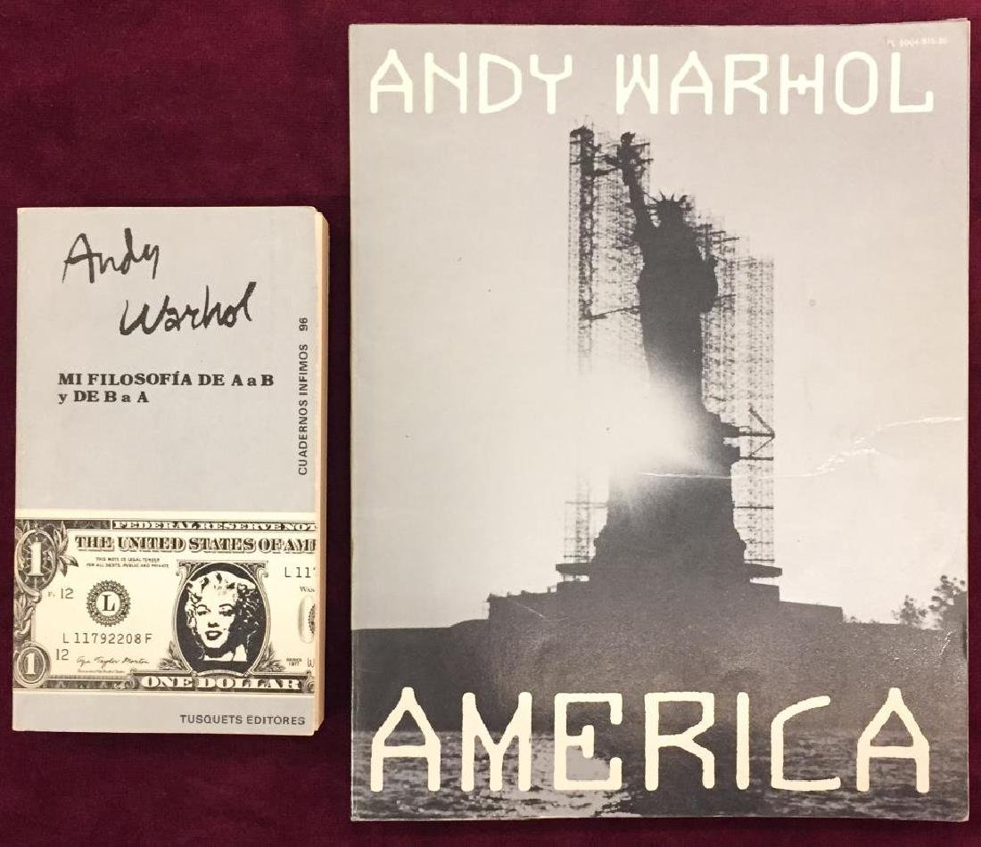"ANDY WARHOL ""AMERICA"" and ""MI FILOSOFIA"""