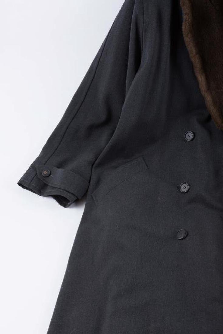 WOOL OVERCOAT with FAUX FUR COLLAR AND LINER - 3