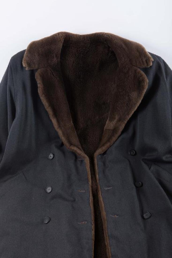 WOOL OVERCOAT with FAUX FUR COLLAR AND LINER - 4