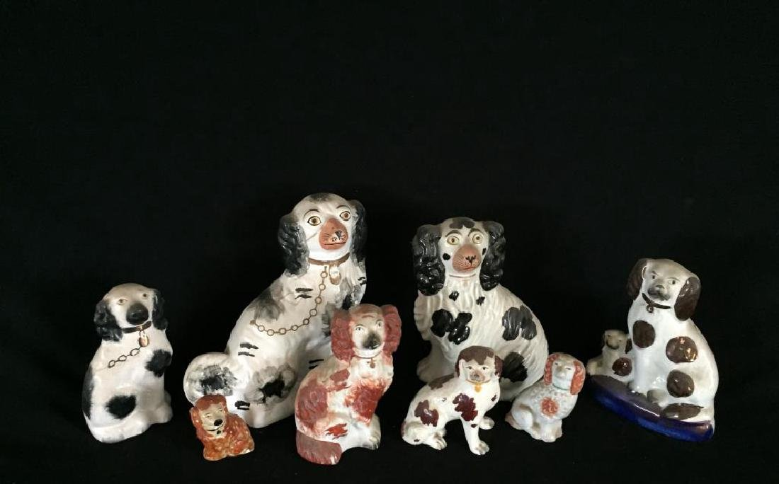 GROUP OF (8) STAFFORDSHIRE DOGS - 4