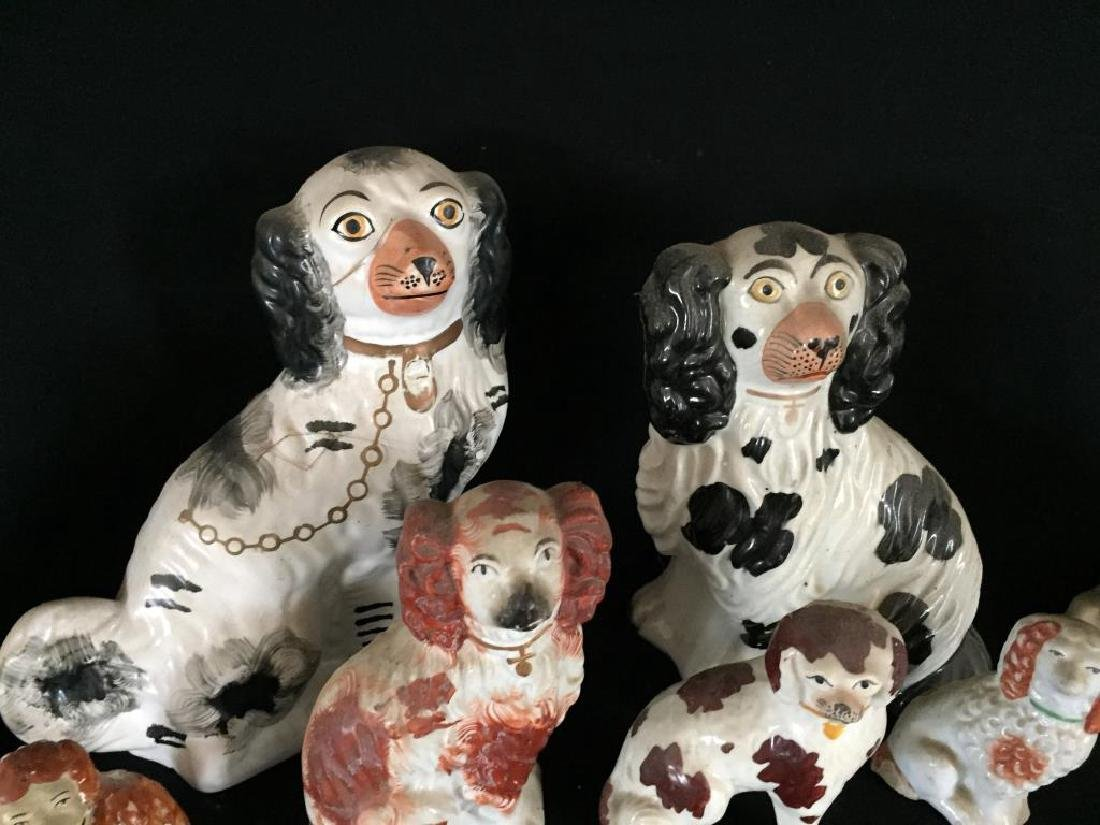 GROUP OF (8) STAFFORDSHIRE DOGS - 6